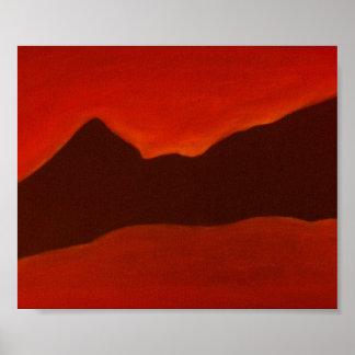 Montañas negras póster