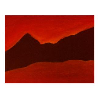 Montañas negras tarjeta postal
