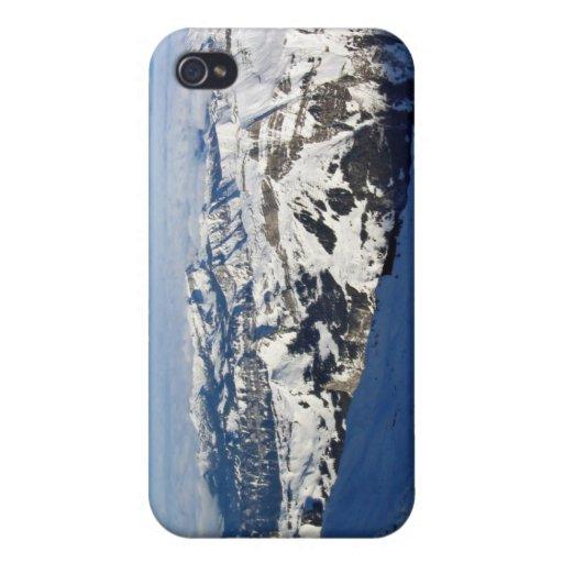 Montañas Nevado contra el cielo azul iPhone 4/4S Fundas