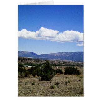 Montañas New México de Capitan Gap Felicitacion
