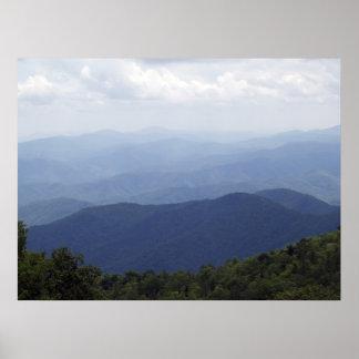 Montañas occidentales 3 del NC Impresiones