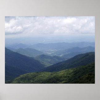 Montañas occidentales del NC Posters