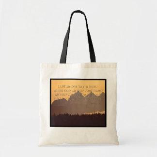 montañas olímpicas con el 121:1 del salmo - la bol bolsas de mano