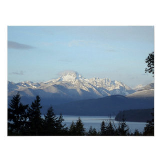 Montañas olímpicas póster