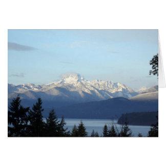 Montañas olímpicas tarjeta de felicitación