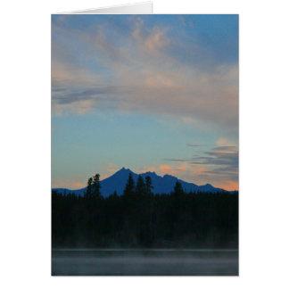 Montañas Oregon de la cascada de la salida del sol Tarjeta De Felicitación