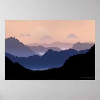 Montañas Poster