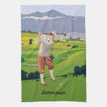 Montañas personalizadas del estilo del vintage toalla