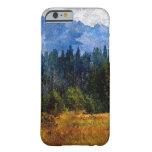 Montañas prado, Oregon de la cascada Funda De iPhone 6 Barely There