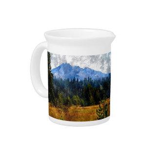 Montañas prado Oregon de la cascada Jarras Para Bebida