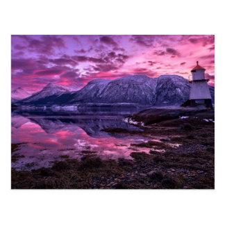 Montañas púrpuras tarjeta postal