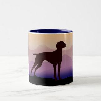 Montañas púrpuras Vizsla Taza De Café