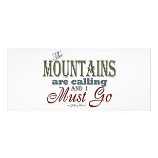 Montañas que llaman la cita de la tipografía - lona personalizada