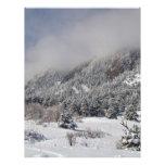 Montañas rocosas Boulder de Colorado de la primave Plantillas De Membrete
