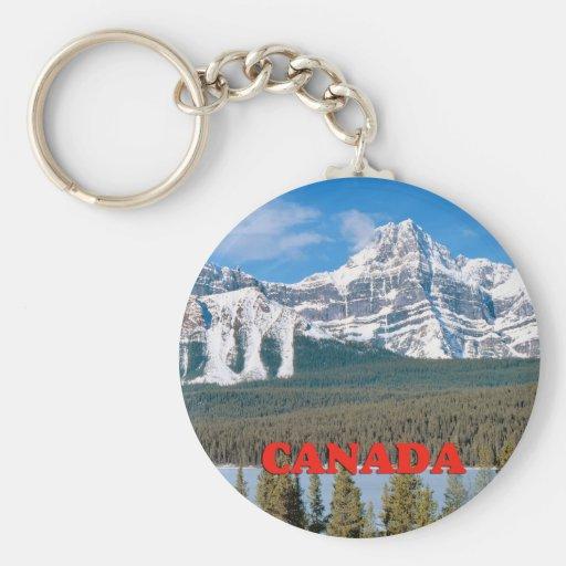 Montañas rocosas Canadá Llavero Redondo Tipo Pin