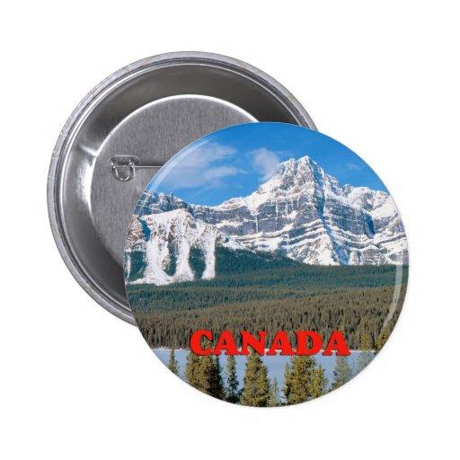 Montañas rocosas Canadá Pin Redondo De 2 Pulgadas