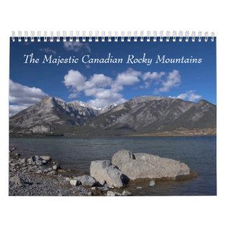 Montañas rocosas canadienses calendarios