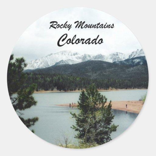 Montañas rocosas, Colorado Pegatinas Redondas