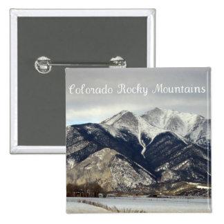 Montañas rocosas, Colorado Pin Cuadrada 5 Cm