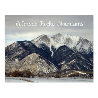 Montañas rocosas, Colorado Tarjeta Postal