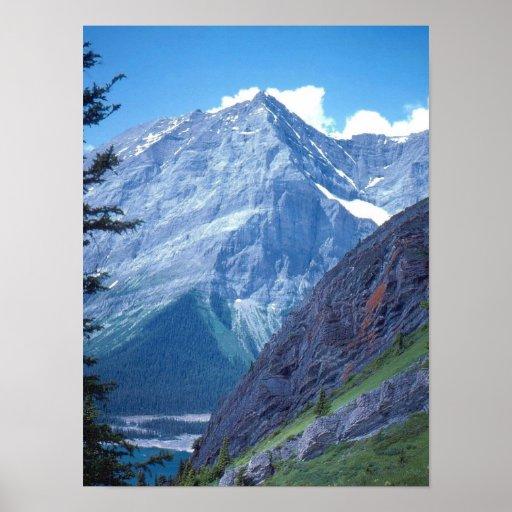 Montañas rocosas de Alberta Póster