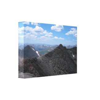 Montañas rocosas de Colorado Moonscape Impresiones En Lona Estiradas