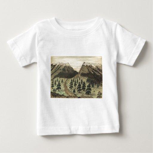 Montañas rocosas del paso cherokee de Daniel A. Playera De Bebé