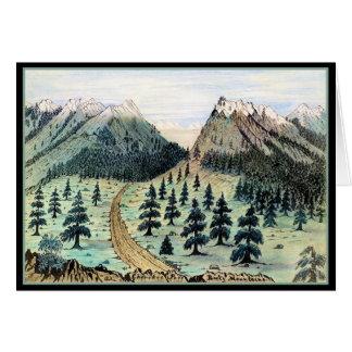 Montañas rocosas del paso cherokee tarjeta de felicitación