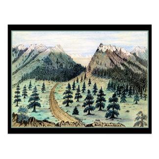 Montañas rocosas del paso cherokee tarjeta postal