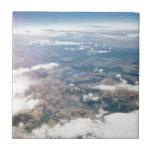 Montañas rocosas desde arriba azulejos