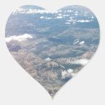 Montañas rocosas desde arriba pegatina de corazon personalizadas