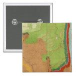 Montañas rocosas geológicas pin cuadrado