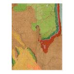 Montañas rocosas geológicas postal