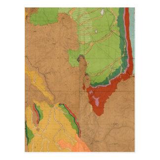 Montañas rocosas geológicas postales