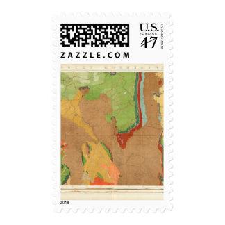 Montañas rocosas geológicas sellos postales