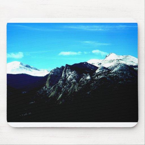 Montañas rocosas hermosas en Colorado Alfombrillas De Ratones