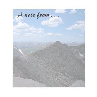 Montañas rocosas Moonscape de Colorado Bloc