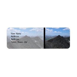 Montañas rocosas Moonscape de Colorado Etiqueta De Remitente