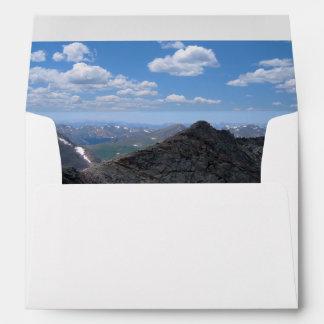 Montañas rocosas Moonscape de Colorado Sobres