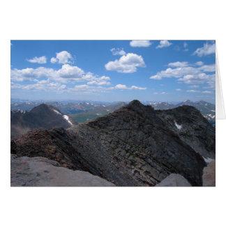 Montañas rocosas Moonscape de Colorado Tarjeta De Felicitación