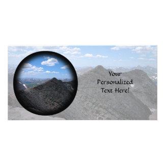 Montañas rocosas Moonscape de Colorado Tarjeta Fotográfica