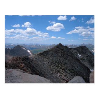 Montañas rocosas Moonscape de Colorado Tarjeta Postal