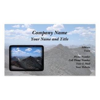 Montañas rocosas Moonscape de Colorado Tarjetas De Visita