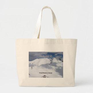 Montañas rocosas nevadas, Colorado Bolsa De Mano