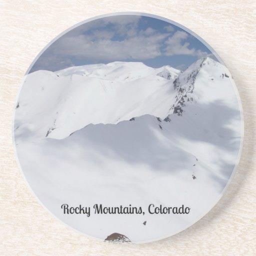 Montañas rocosas nevadas, Colorado Posavasos Diseño