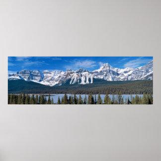 Montañas rocosas impresiones