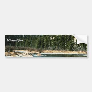 Montañas rocosas parque nacional pegatina de parachoque