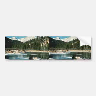 Montañas rocosas parque nacional etiqueta de parachoque