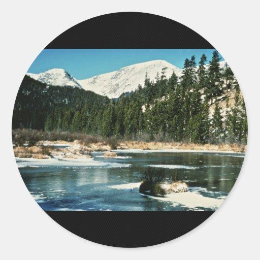 Montañas rocosas, parque nacional pegatina redonda