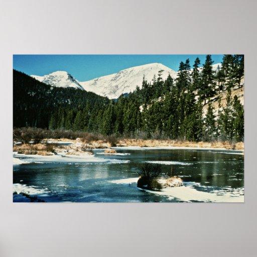 Montañas rocosas, parque nacional posters